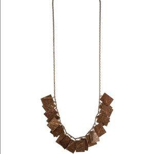 NWT Burberry Prosum copper necklace floral plaques